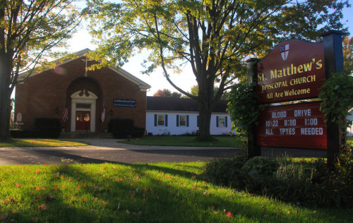 St. Matthew's Church-with sign