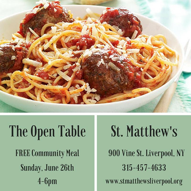 June Open Table